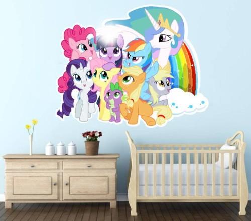 Naklejki Na Sciane 3d My Little Pony 3d Kucyki Pony Kuc1081