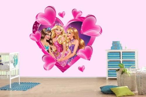 Naklejki Na Sciane 3d Barbie Lalki Brb1082 Postacie Z Bajek 3d