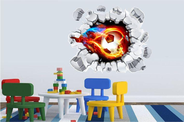Naklejki Piłka Nożna 3d Piłki Pil1314 Sport Piłka Nożna 3d