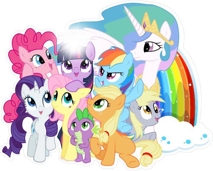 Naklejki na ścianę 3D, My Little Pony 3D, Kucyki Pony, - NaklejkiOzdobne.pl