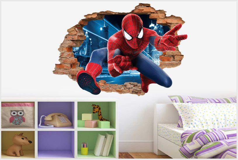Naklejki Scienne Spider Man 3d Bajki 1001 Postacie Z Bajek 3d