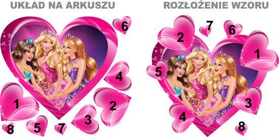 Naklejki na ścianę 3D Barbie Lalki  - NaklejkiOzdobne.pl
