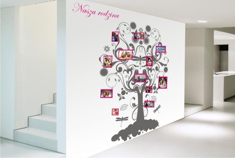 Drzewo Genealogiczne 2 Nasza Rodzina Ramki Naklejki ścienne
