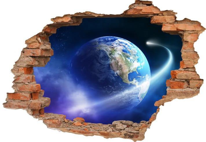 Naklejki Na ścianę Ziemia Planeta Widok 3d 2020 Kosmos Planety 3d