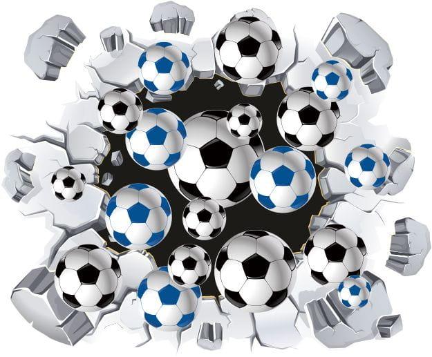 Naklejki Piłka Nożna 3d Piłki Pil1312 Sport Piłka Nożna 3d