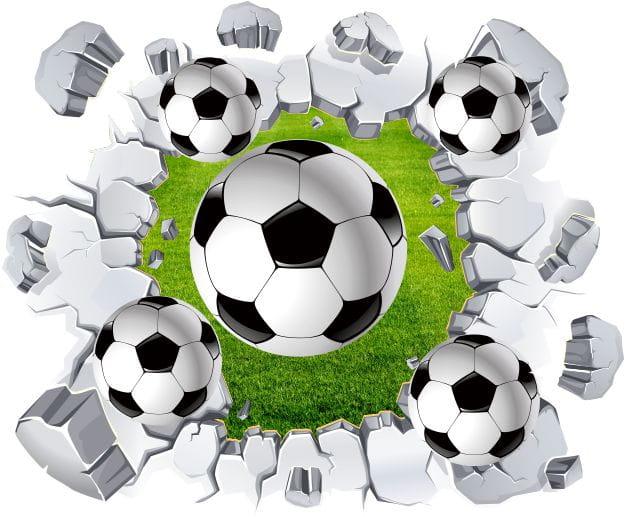 Naklejki Piłka Nożna 3d Piłki Pil1303 Sport Piłka Nożna 3d